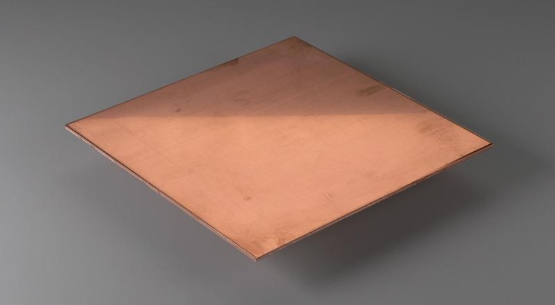 Copper sheet stock material cut to size