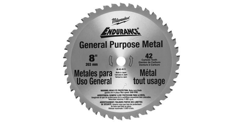 Milwaukee 8 Inch Metal Replacement Circular Saw Blade