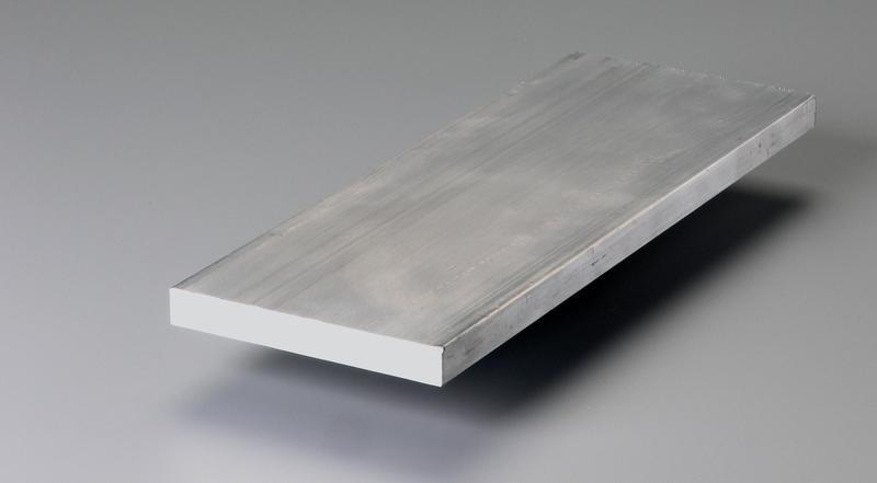 Aluminum flat bar stock cut to length