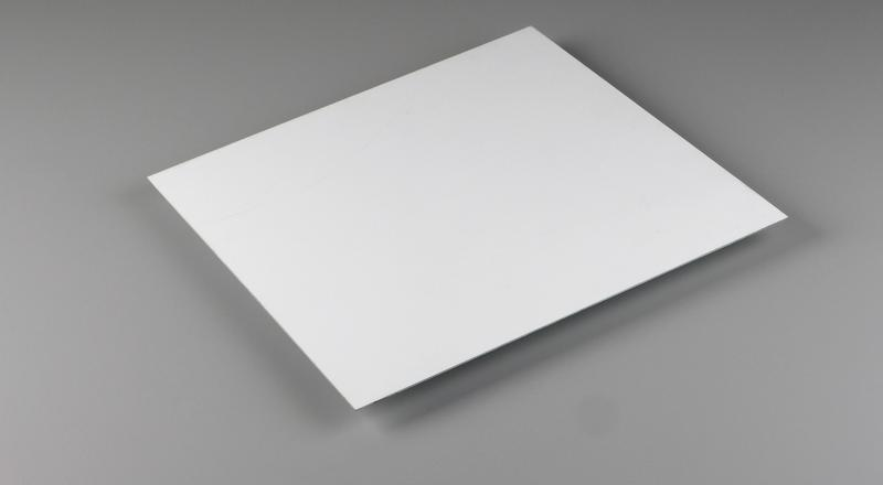White painted aluminum sheet stock cut to size