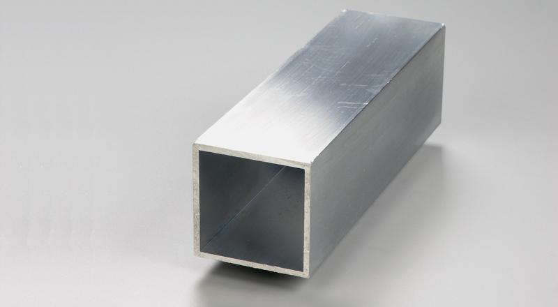 Aluminum square tube stock cut to length