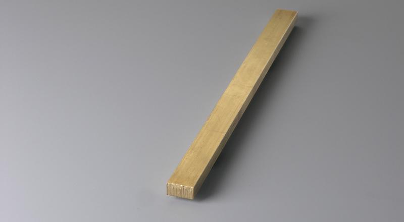 Brass metal flat rectangular shape bar