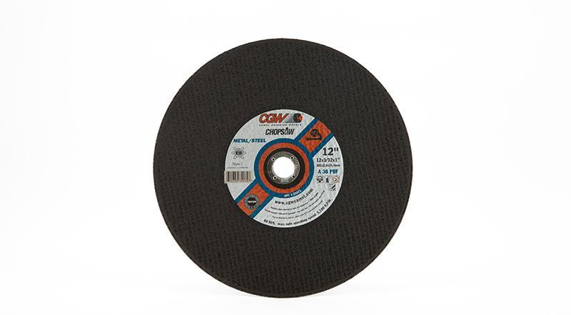 CGW General Purpose Chop Saw Wheel - 12 Inch X 3/32 Inch Metal Cutting at Coremark Metals