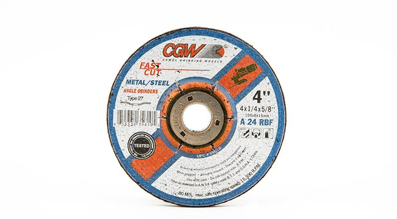 CGW-35610 - Fast Cut Depressed Grinding Wheels Type 27 - 4 Inch x 1/4 Inch at Coremark Metals