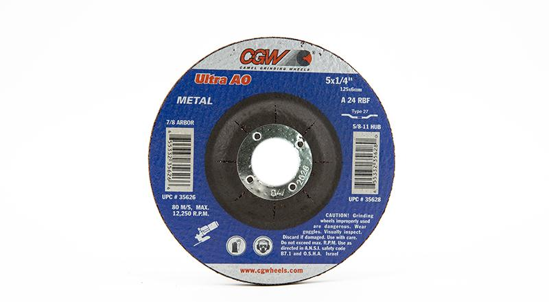 CGW-35626 - Depressed Grinding Wheels Type 27 - 5 Inch x 1/4 Inch on sale at Coremark Metals
