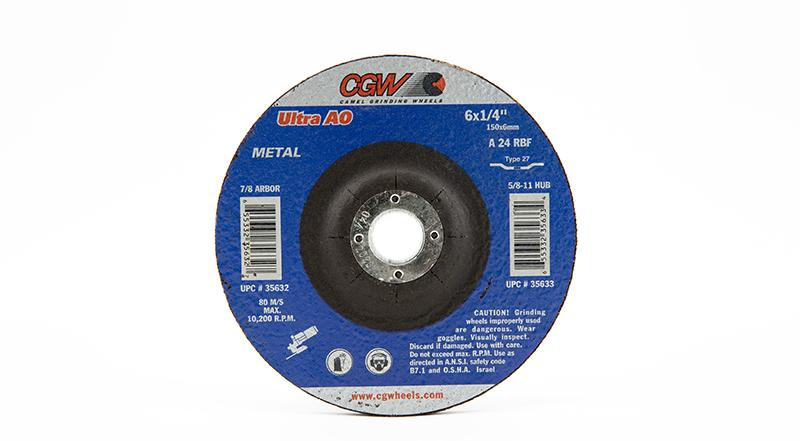 CGW-35632 - Depressed Grinding Wheels Type 27 - 6 Inch x 1/4 Inch on sale at Coremark Metals