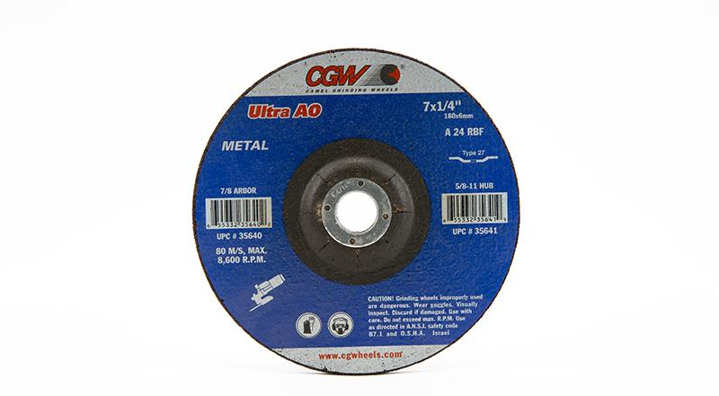 CGW-35640 - Depressed Grinding Wheels Type 27 - 7 Inch x 1/4 Inch on sale at Coremark Metals