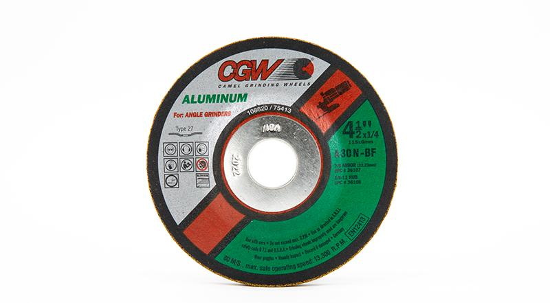 CGW-36107 - Depressed Grinding Wheels Type 27 - 4-1/2 Inch x 1/4 Inch on sale at Coremark Metals