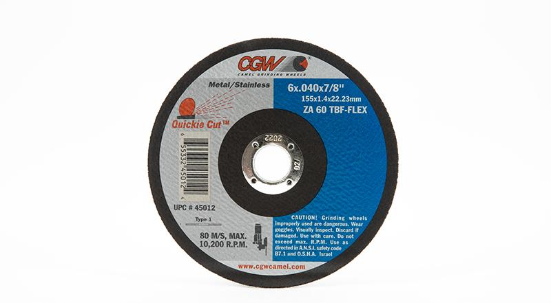 CGW Quickie-Cut Reinforced Cut-Off Wheels - Type 1 on sale at Coremark Metals