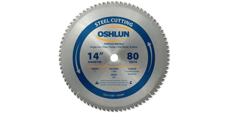 Oshlun 14 Inch Steel Cutting Replacement Circular Saw Blade at Coremark Metals