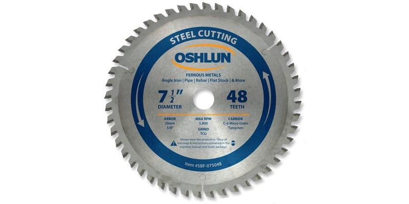 Oshlun 7-1/2 Inch Steel Replacement Circular Saw Blade at Coremark Metals