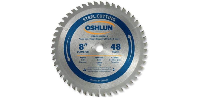 Oshlun 8 Inch Steel Cutting Replacement Circular Saw Blade at Coremark Metals