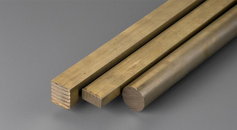 Brass metal supplier providing square, flat and round bar stock