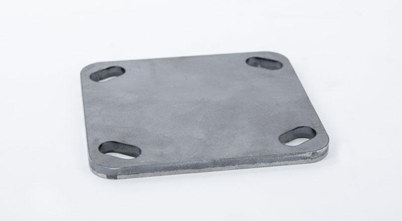 hot rolled steel caster base plate manufactured
