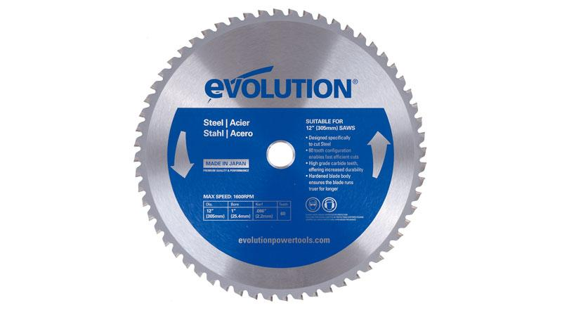 Evolution 12 Inch Steel Replacement Circular Saw Blade at Coremark Metals