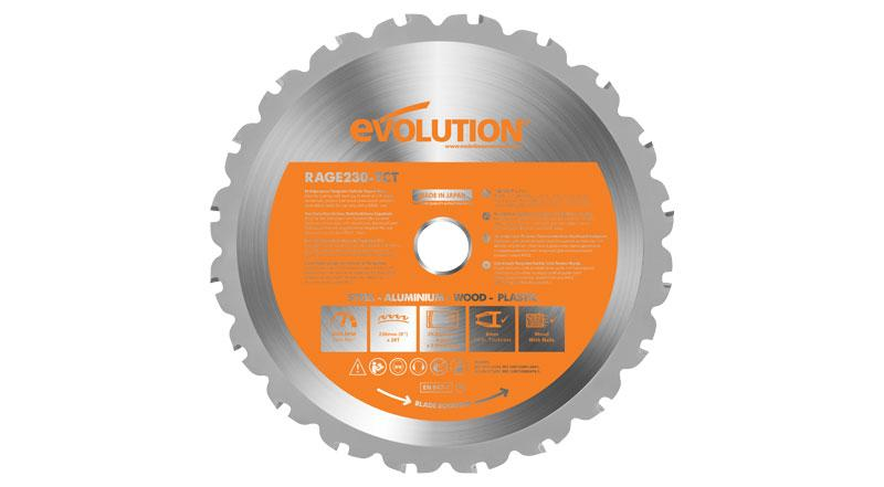 Evolution 9 Inch Multipurpose Replacement Circular Saw Blade at Coremark Metals