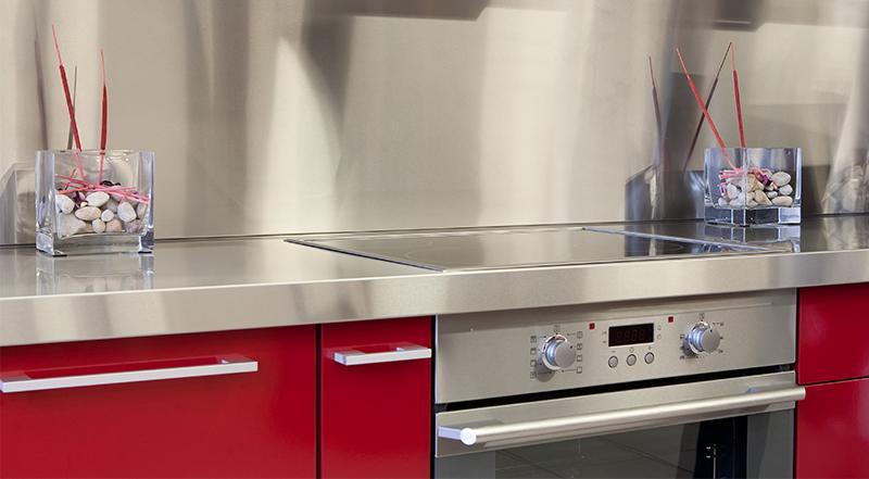 stainless steel custom backsplash kitchen home remodel back splash