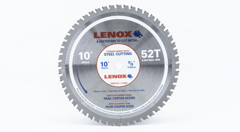 Lenox 10 Inch Steel Cutting Replacement Circular Saw Blade at Coremark Metals