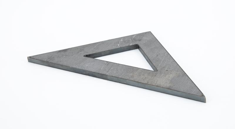 Laser cut hot roll steel hollow gusset angle bracket plate manufactured part