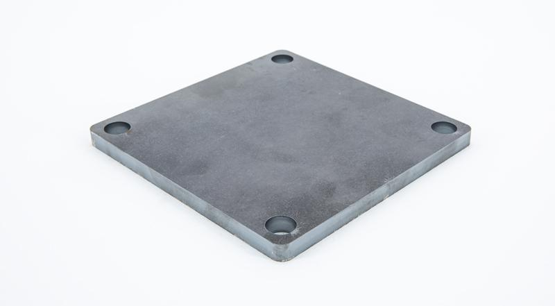Laser cut hot roll steel square base plate mounting bracket manufactured