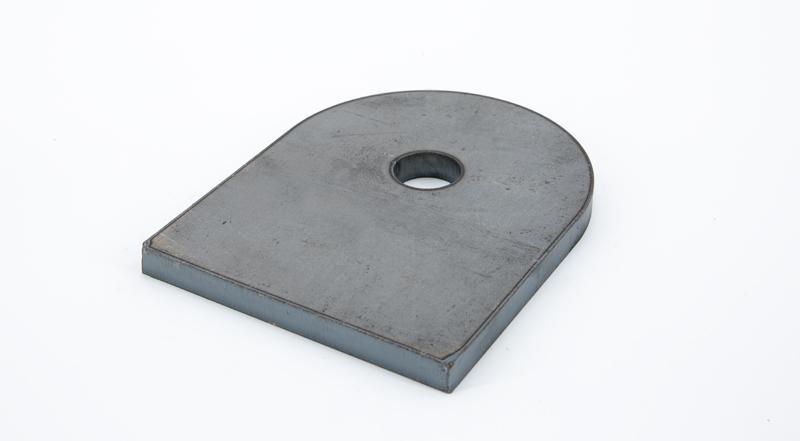 Laser cut hot roll steel metal i hook manufactured part