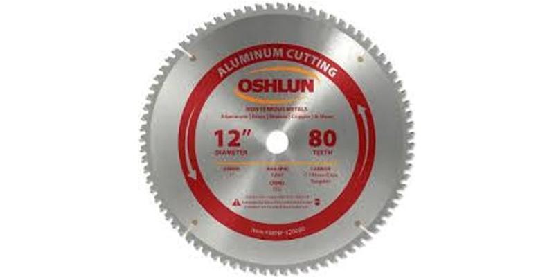 Oshlun 12 Inch Aluminum Replacement Circular Saw Blade at Coremark Metals