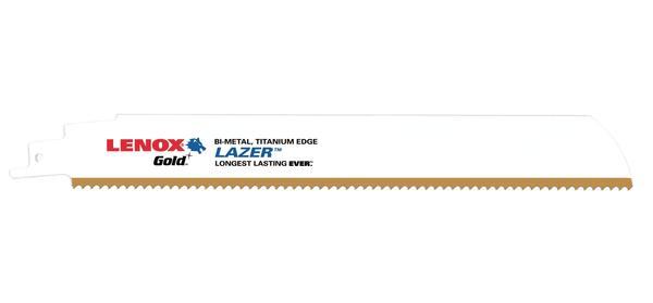 Lenox Reciprocating Saw Blades Gold Metal Lazer Cutting at Coremark Metals