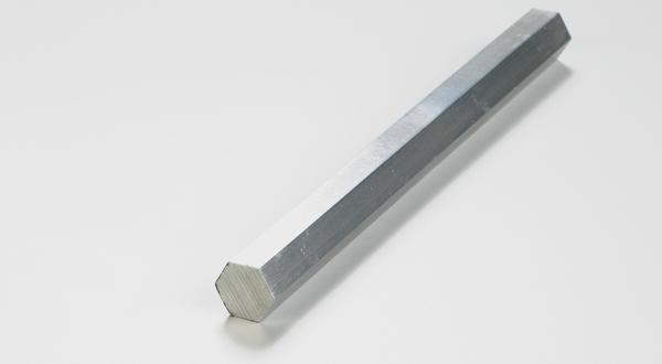 Aluminum hexagon bar stock cut to size
