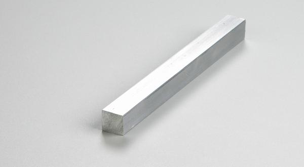 Aluminum square bar stock cut to length