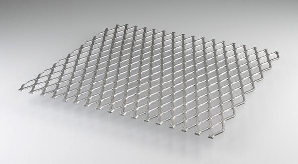 Aluminum flattened expanded metal full length stock