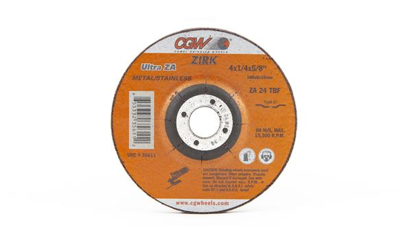 CGW-35611 - Depressed Grinding Wheels Type 27 - 4 Inch x 1/4 Inch on sale at Coremark Metals
