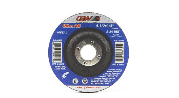CGW-35620 - Depressed Grinding Wheels Type 27 - 4-1/2 Inch x 1/4 Inch at Coremark Metals