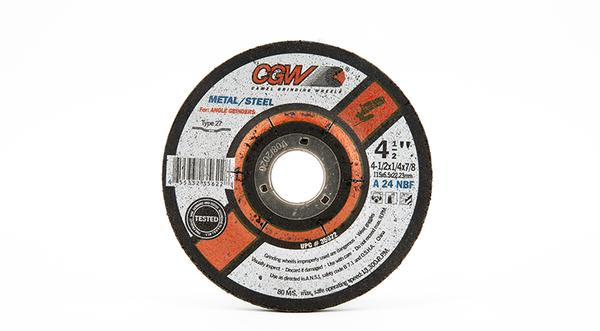 CGW-35622 - Fast Cut Depressed Grinding Wheels Type 27- 4-1/2 Inch x 1/4 Inch at Coremark Metals