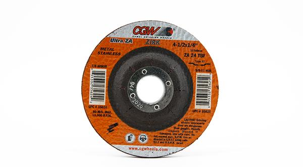 CGW-35624 - Depressed Grinding Wheels Type 27 - 4-1/2 Inch x 1/4 Inch on sale at Coremark Metals
