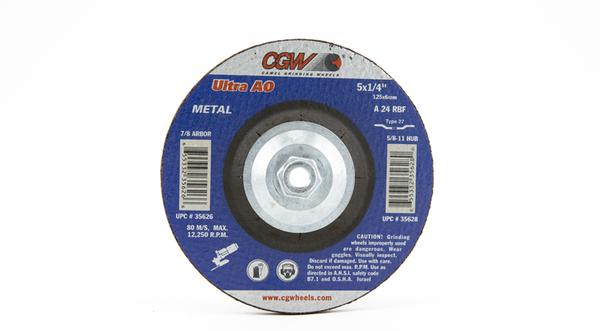 CGW-35628 - Depressed Grinding Wheels Type 27 - 5 Inch x 1/4 Inch on sale at Coremark Metals