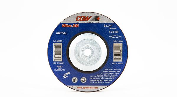 CGW-35633 - Depressed Grinding Wheels Type 27 - 6 Inch x 1/4 Inch on sale at Coremark Metals