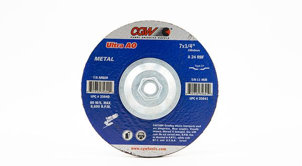 CGW-35641 - Depressed Grinding Wheels Type 27 - 7 Inch x 1/4 Inch on sale at Coremark Metals