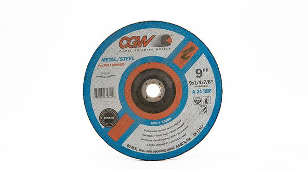CGW-35654 - Depressed Grinding Wheels Type 27 - 9 Inch x 1/4 Inch at Coremark Metals