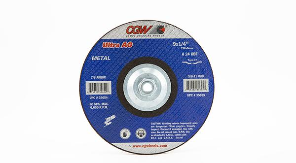 CGW-35655 - Depressed Grinding Wheels Type 27 - 9 Inch x 1/4 Inch on sale at Coremark Metals