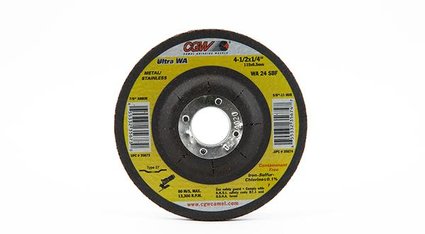 CGW-35673 - Depressed Grinding Wheels Type 27 - 4-1/2 Inch x 1/4 Inch on sale at Coremark Metals