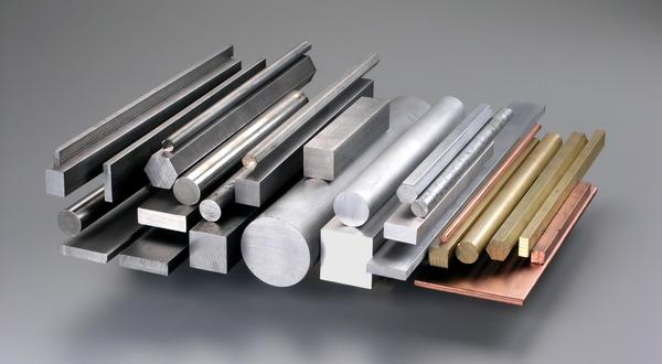Bar stock metal materials in round, square, flat, hexagon, aluminum, steel,  brass and copper