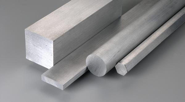 Aluminum square, flat, round and hexagon bar stock