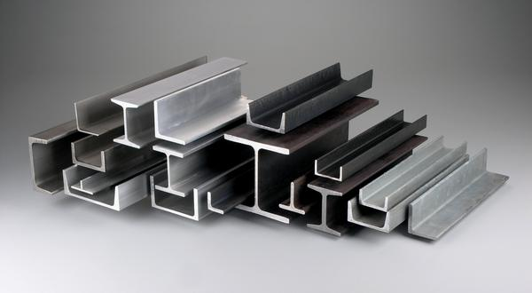 Structural metal materials. Channels, angles, beams, tee bar in aluminum, steel and galvanized