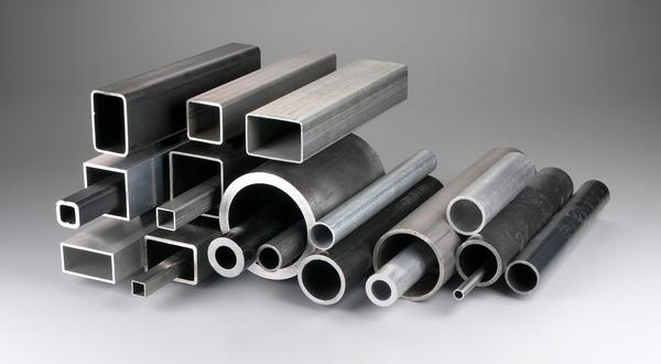 Metal tubes and pipes. Round, square, rectangle. Aluminum, steel, stainless and galvanized.