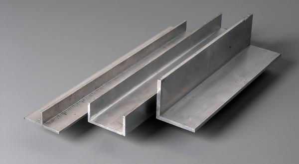 Aluminum architectural structural metals channels, angles and tee bar