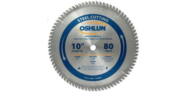 Oshlun 10 Inch Steel Cutting Replacement Circular Saw Blade at Coremark Metals
