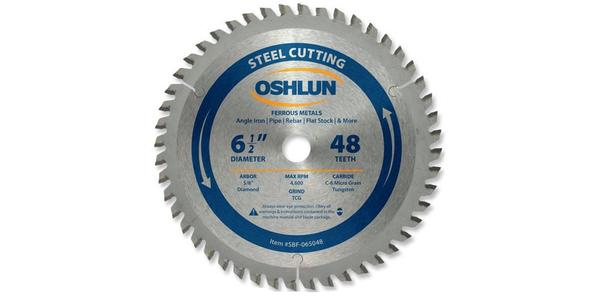 Oshlun 6-1/2 Inch Steel Replacement Circular Saw Blade at Coremark Metals