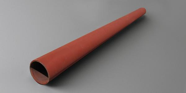 red primed steel round pipe bollard stock custom material cut to size