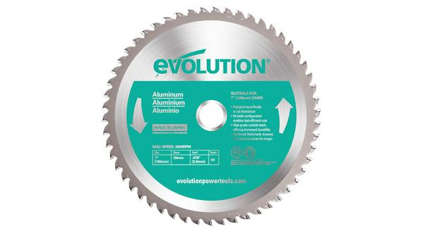 Evolution 7 Inch Aluminum Replacement Circular Saw Blade at Coremark Metals