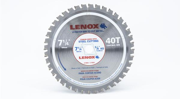 Lenox 7-1/4 Inch Steel Replacement Circular Saw Blade at Coremark Metals